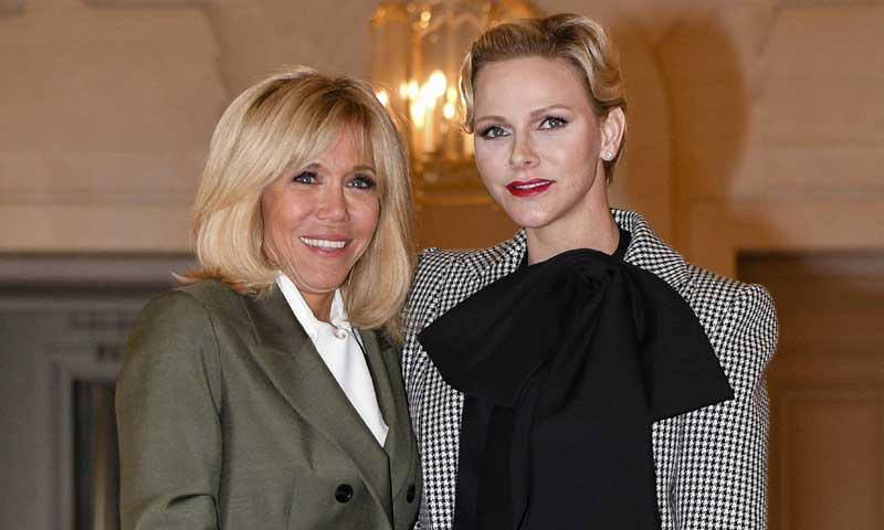 Los mellizos de Charlene de Mónaco conquistan el Elíseo y a Brigitte Macron