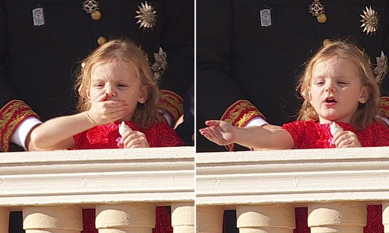 Gabriella, la hija de los príncipes Alberto y Charlene, todo amor con los monegascos