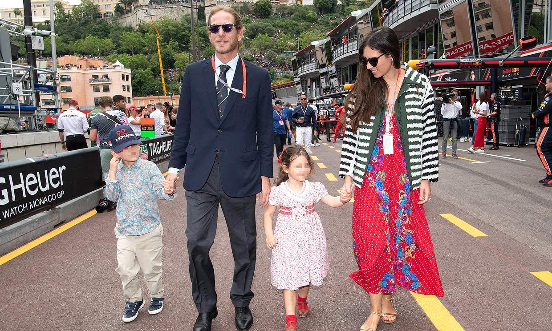 Las simpáticas imágenes de los hijos de Andrea Casiraghi y Tatiana Santo Domingo, en el GP de Mónaco