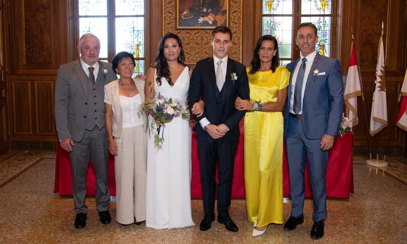 Estefanía de Mónaco, una madre orgullosa y espectacular en la boda de su hijo