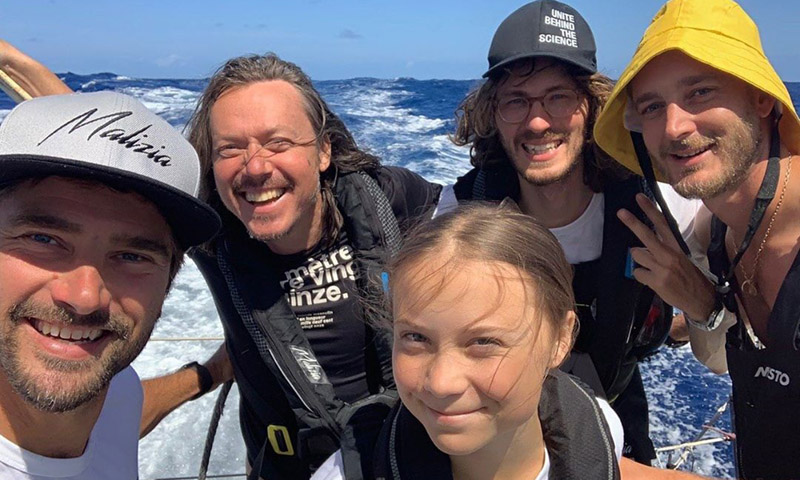 Pierre Casiraghi, el 'capitán pescanova' más sexy en su travesía junto a la activista Greta Thunberg