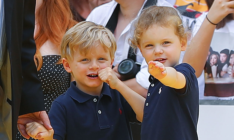 El primer día de los príncipes Jacques y Gabriella en su cole nuevo