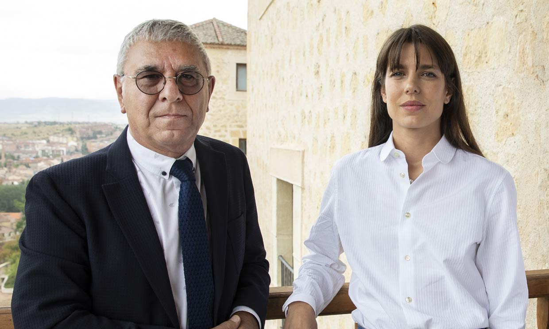 Así ha sido la multitudinaria visita de Carlota Casiraghi a Segovia
