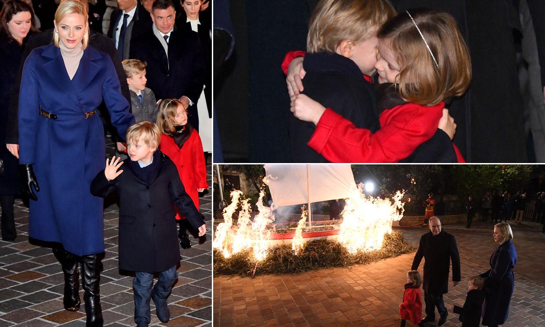 Jacques y Gabriella de Mónaco llenan de abrazos, ternura y alboroto las festividades de Santa Devota