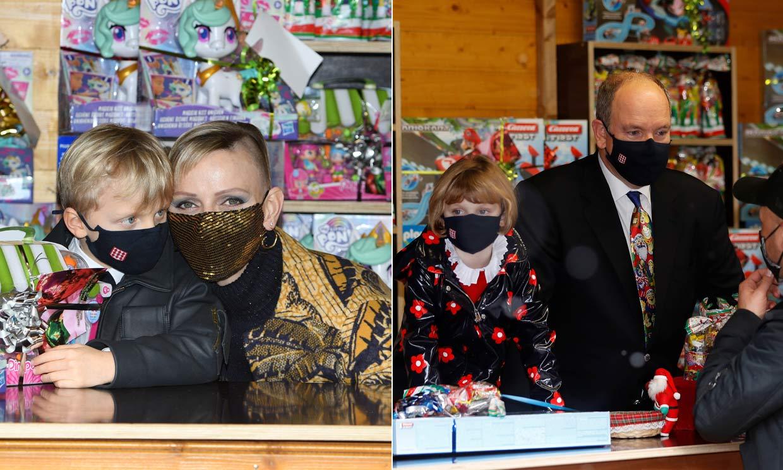 Jacques y Gabriella de Mónaco, ayudantes de Papá Noel en una entrega de regalos diferente