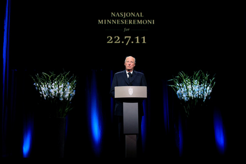 Victoria de Suecia y Federico de Dinamarca recuerdan junto a la Familia Real noruega a las víctimas del doble atentado en Oslo
