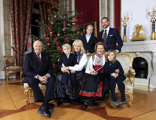 La Familia Real noruega felicita la Navidad