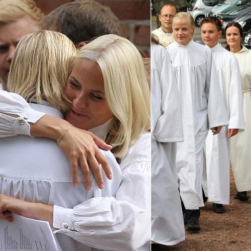 La Familia Real noruega se reúne en la confirmación de Marius, hijo mayor de la princesa Mette-Marit