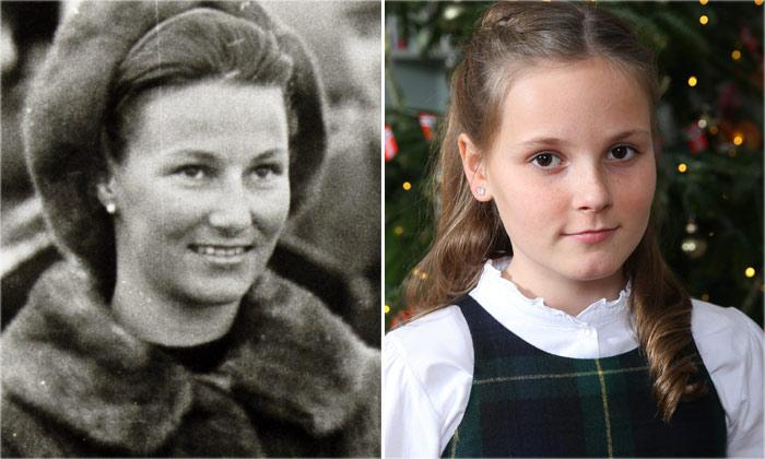 Ingrid Alexandra y Sonia de Noruega, parecidos 'reales'