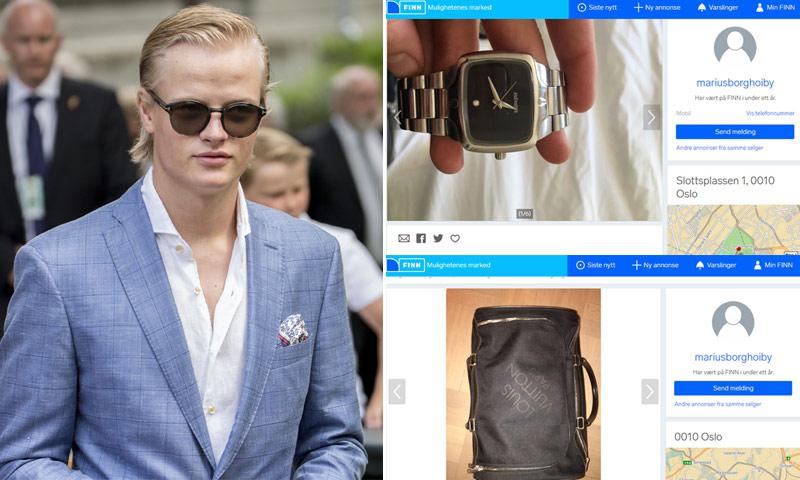 Marius Borg Hiby vende sus cosas más preciadas antes de marcharse a Estados Unidos con su novia