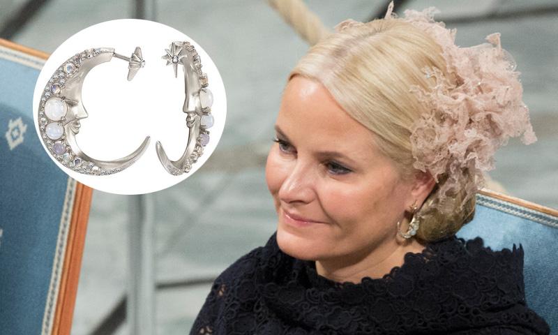 Los pendientes de 10.000 euros de Mette-Marit durante la entrega del Nobel de la Paz