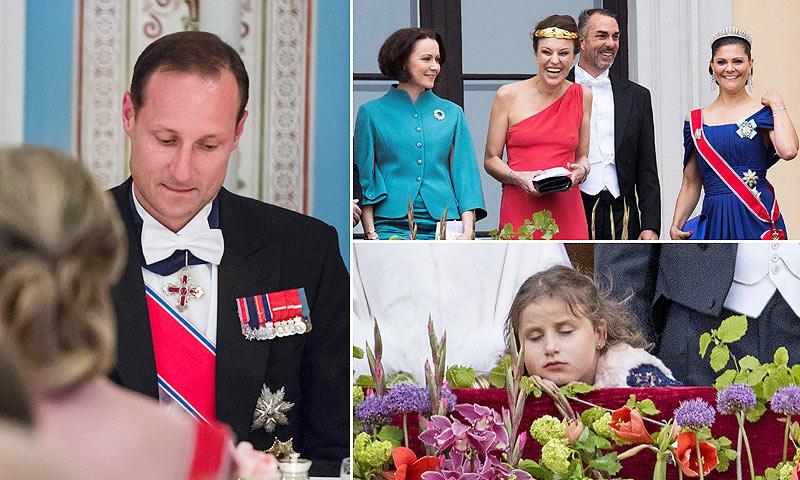 Vista y no vista, la misteriosa barba de Haakon, la mujer de rojo... Curiosidades de la celebración real en Noruega