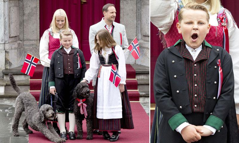 Bostezos incontenibles, invitados inesperados... las imágenes más curiosas del Día Nacional de Noruega