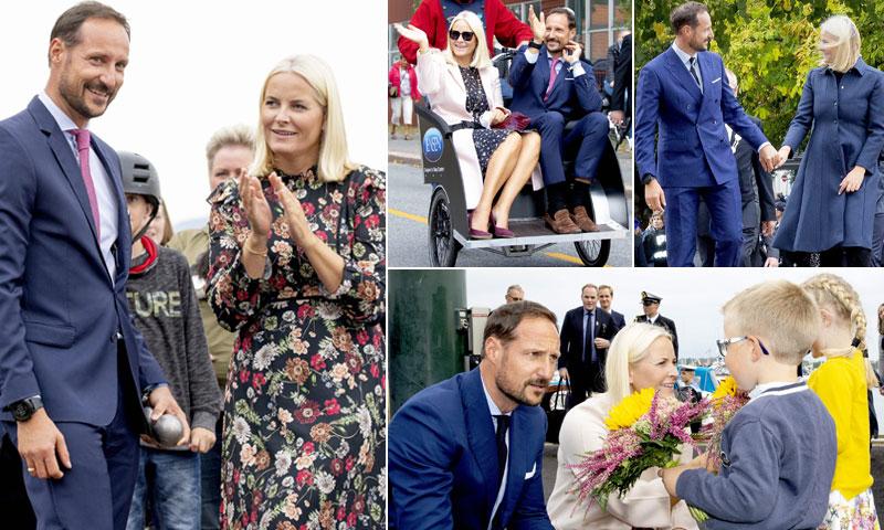 Las imágenes más bellas de Haakon y Mette-Marit de Noruega en su visita a la 'casa de la felicidad'