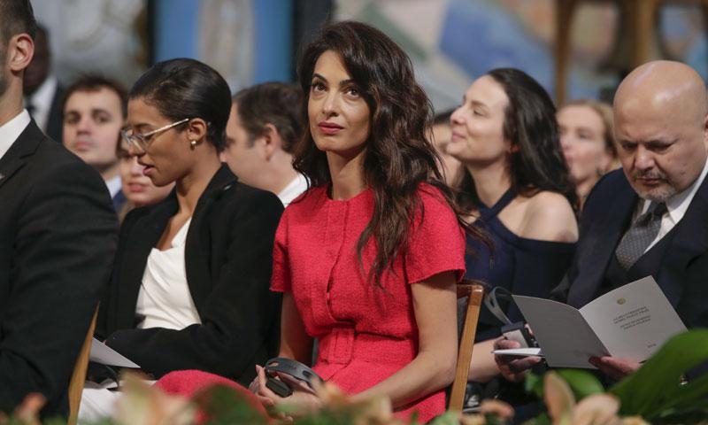 El motivo por el que Amal Clooney ha sido una de las invitadas a los Premio Nobel de la Paz