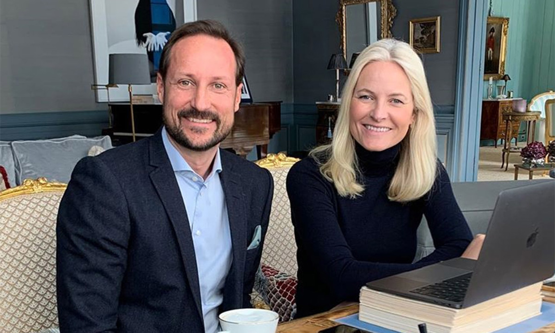 El impresionante despacho de Haakon y Mette-Marit de Noruega