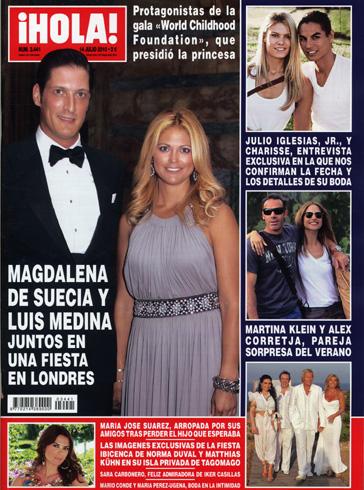 En la revista ¡HOLA!: Magdalena de Suecia y Luis Medina, juntos en una fiesta en Londres