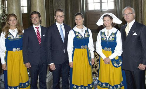 La familia real de Suecia celebra su Día Nacional, con los príncipes Victoria y Daniel como protagonistas