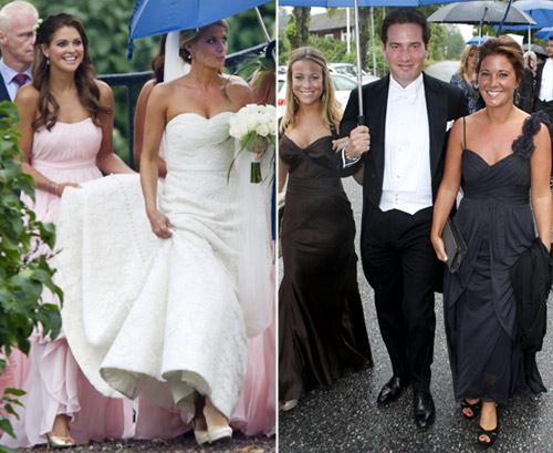 Magdalena de Suecia coincide con su exprometido, Jonas Bergström, en la boda de unos amigos