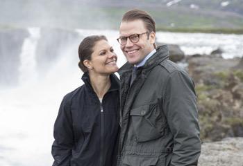 Helados paisajes de postal en la visita de los príncipes Victoria y Daniel a Islandia