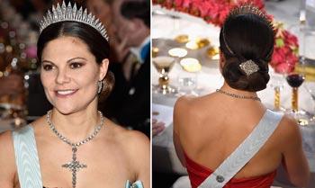 Fabuloso escaparate de joyas en la gala de los Nobel