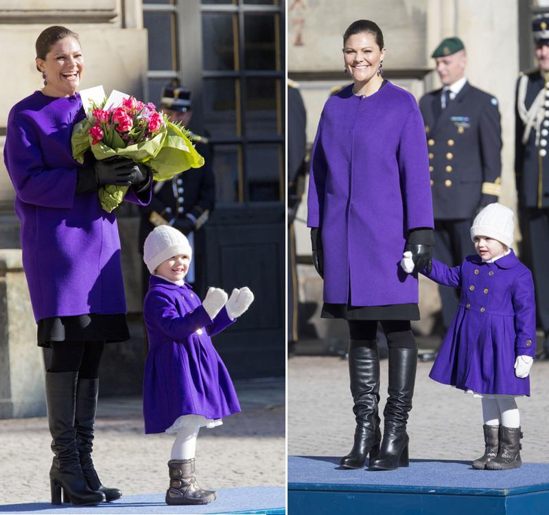 Estelle de Suecia se conjunta con la princesa Victoria para celebrar su santo