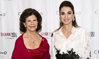 Silvia de Suecia y Rania de Jordania unen fuerzas por la infancia en Nueva York
