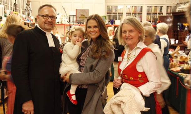 La princesa Magdalena de Suecia prepara la Navidad con su hija en Londres