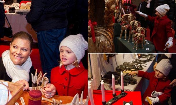 La espontaneidad de Estelle de Suecia al visitar un mercado de Navidad