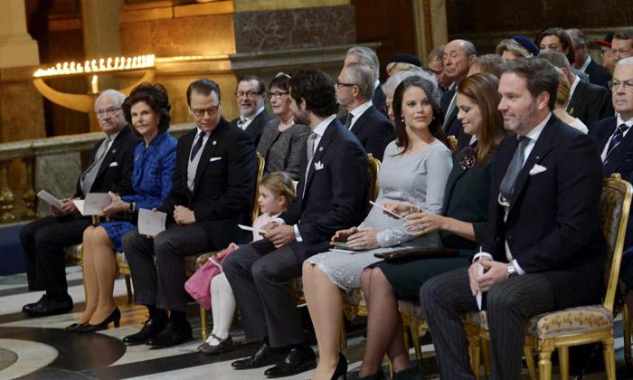 La Familia Real sueca celebra un 'Te Deum' en honor del bebé de Victoria y Daniel de Suecia