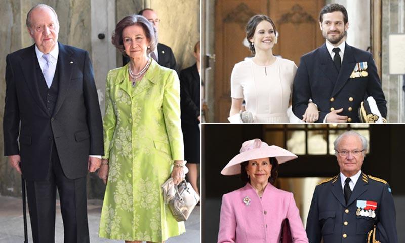 Los reyes Juan Carlos y Sofía, la reaparición de la princesa Sofia... en el 'Te Deum' en honor a Carlos Gustavo de Suecia