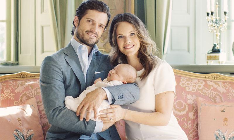 Carlos Felipe y Sofia de Suecia preparan con mimo el bautizo del príncipe Alexander