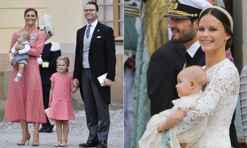 Victoria de Suecia, su 'mini yo' y otras coincidencias en el bautizo real