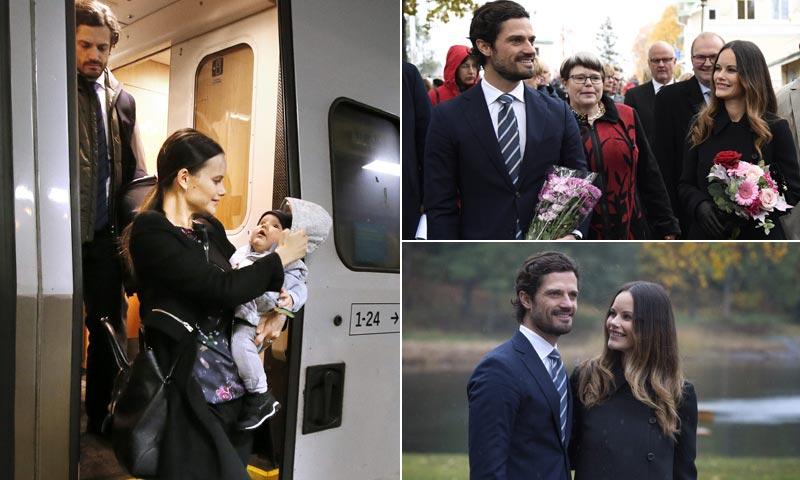 Carlos Felipe y Sofia de Suecia se llevan a su hijo al trabajo