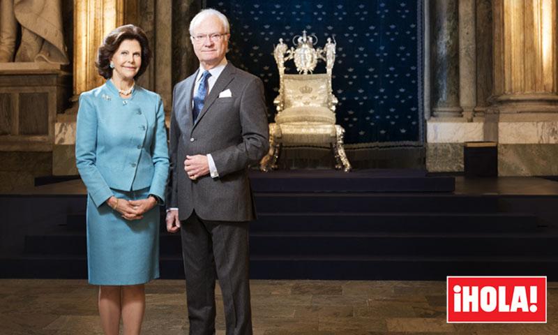 ¡HOLA! entra en palacio para entrevistar a los Reyes de Suecia