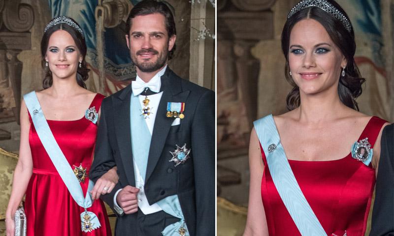 Sofia de Suecia reaparece radiante de gala horas después de anunciarse su segundo embarazo