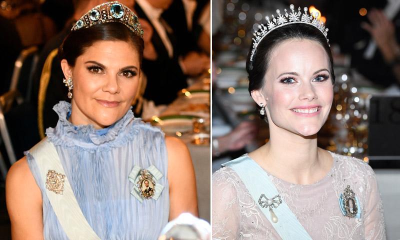 Victoria, Sofia y Magdalena de Suecia brillan en los Nobel del 'glamour'
