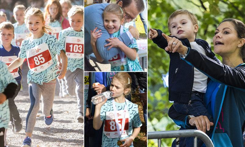 Estelle de Suecia completa su primera carrera en un domingo de todo menos 'cualquiera'