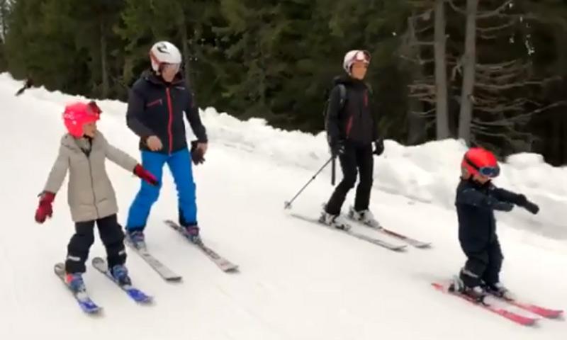 Victoria de Suecia y su familia sorprenden con sus grandes habilidades esquiando