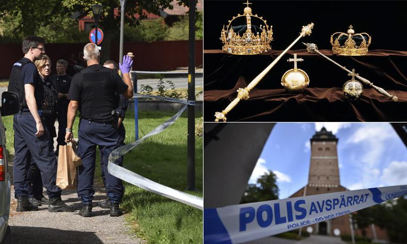 Recuperan el botín de las joyas de la Corona sueca robadas en verano