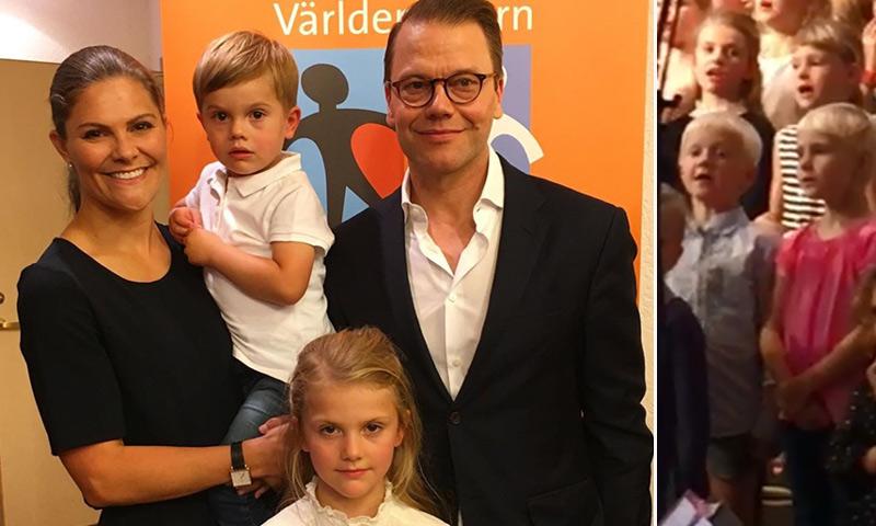 Estelle de Suecia debuta como 'cantante' ante un público de excepción