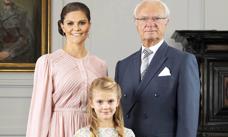 'Tres generaciones': la nueva fotografía oficial tras los cambios en la Casa Real sueca