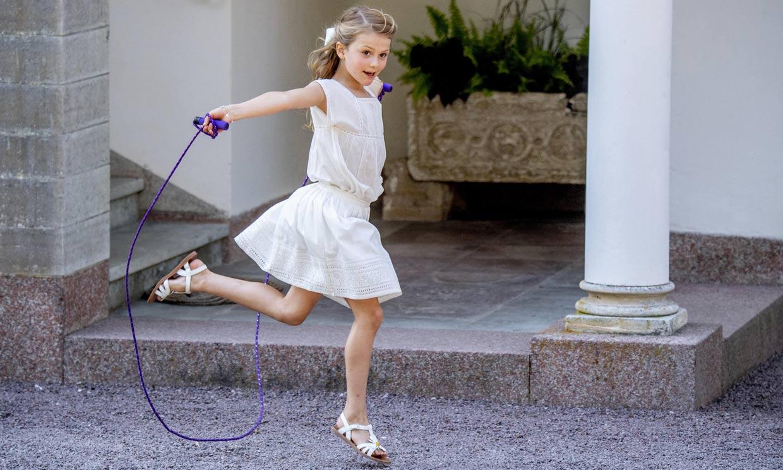 Espontánea, enérgica y divertida, así es Estelle de Suecia, que cumple 8 años