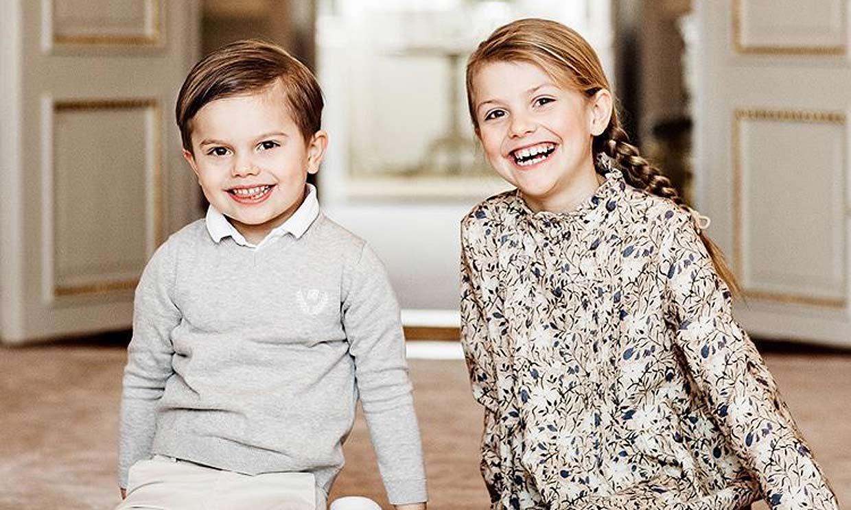 Estelle y Oscar de Suecia, la viva imagen de la felicidad en el octavo cumpleaños de la princesa