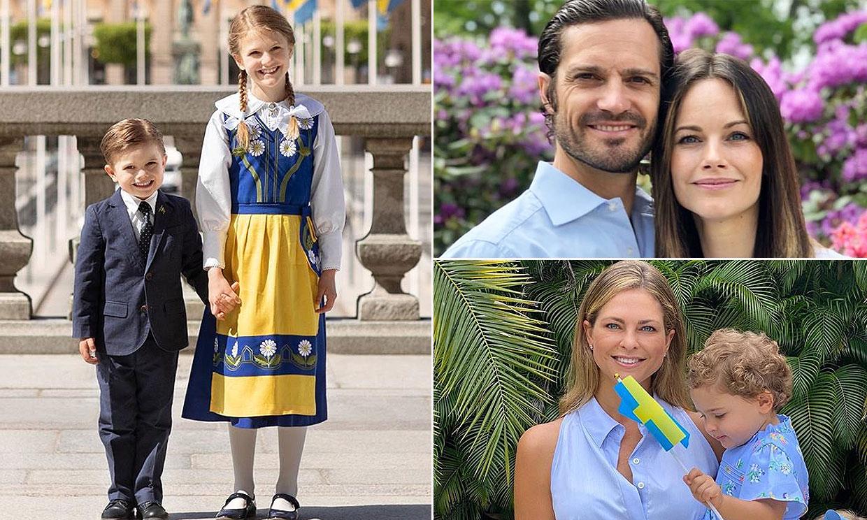 La Familia Real sueca se viste de azul y amarillo para celebrar un Día Nacional muy diferente
