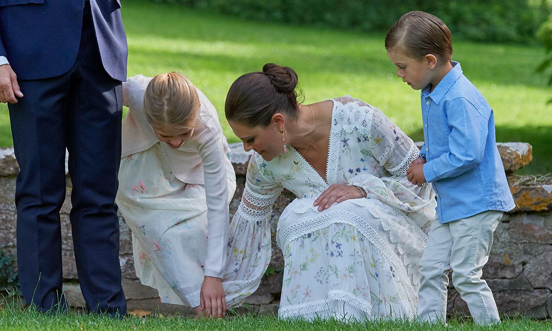 Oscar de Suecia, protagonista indiscutible en el cumpleaños de su madre, la princesa Victoria