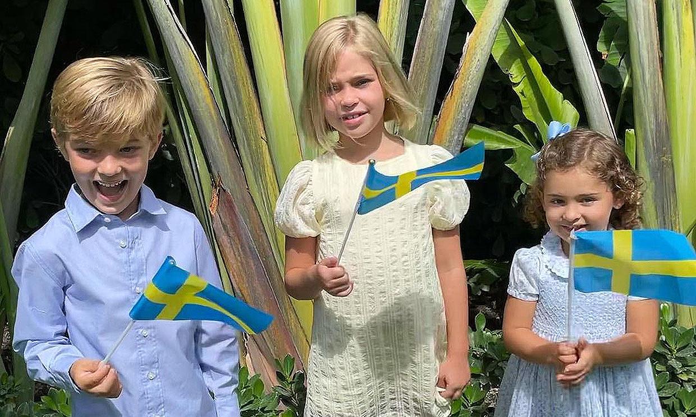 ¡Qué mayores! Magdalena de Suecia muestra lo mucho que han crecido sus hijos