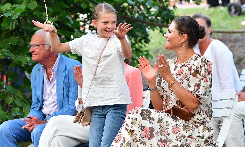 Estelle de Suecia, risas y diversión en un concierto con el más 'peque' de la familia