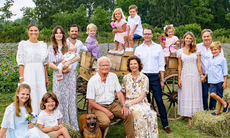 ¡Todos juntos otra vez! El espectacular posado de la Familia Real sueca