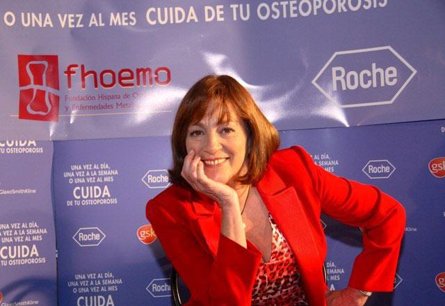 Carmen Maura apoya la lucha contra la osteoporosis